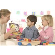Teacher with small children
