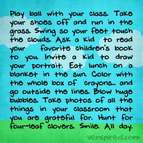 Play Ball With Your Class…